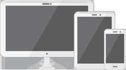 desktop/laptop screen, tablet screen, phone screen